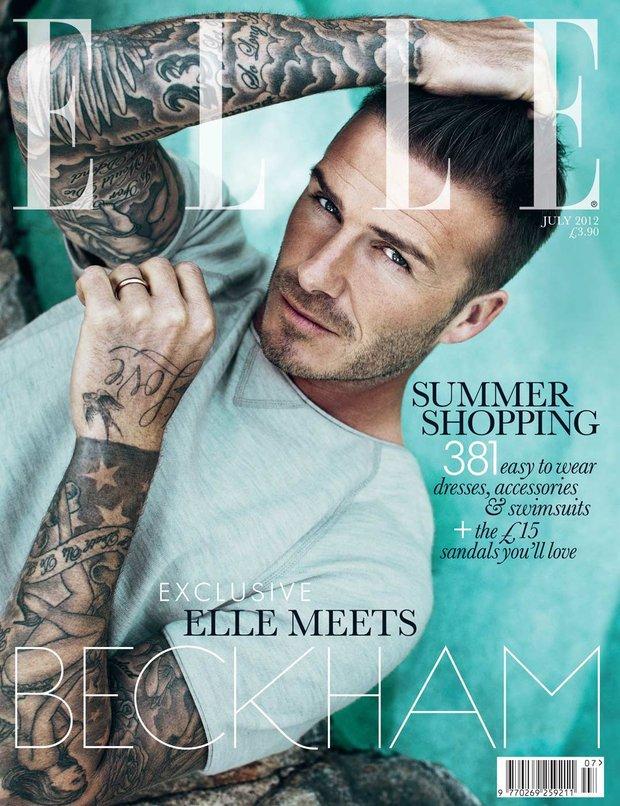 David Beckham《Elle》英国版2013年7月刊时尚大片
