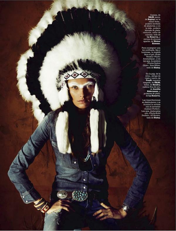 """西班牙版《Marie Claire》杂志8月时尚大片""""Sioux"""""""