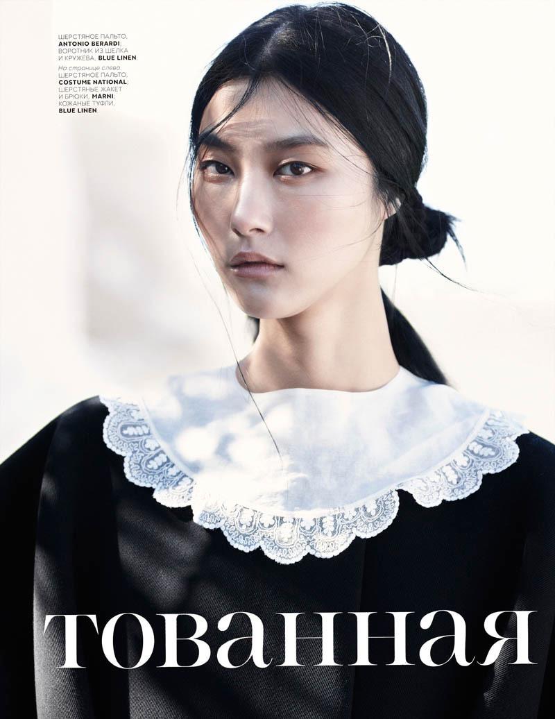 俄罗斯版《Vogue》七月号韩国超模朴智慧(Ji Hye Park)时尚大片