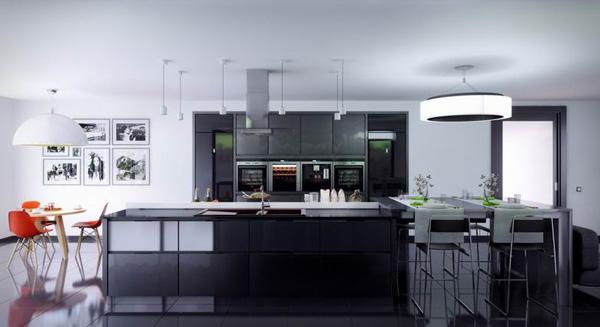 黑色旋风来袭 破解厨房设计流行的八个密码