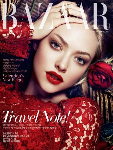 好莱坞女星Amanda Seyfried 《Harper's Bazaar》韩国版2013年7月刊大片