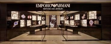 Emporio Armani在上海开设首间腕表和首饰专卖店