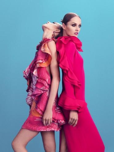 Anja Rubik & Karmen Pedaru for Gucci Style S/S 2013