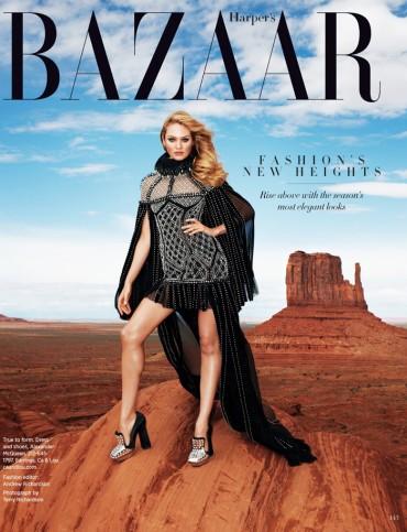 《Harper's Bazaar》美国版2013年8月刊封面大片