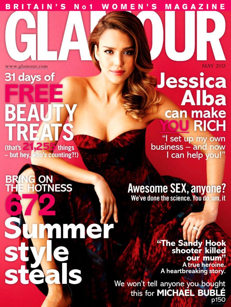 Jessica Alba 《Glamour》英国版2013年5月刊时尚大片
