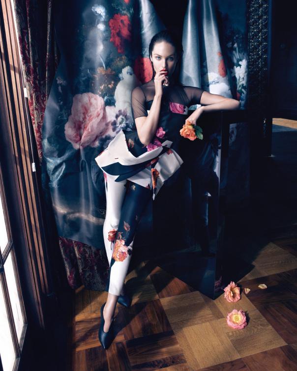 腰精的诱惑!蓝色情人 (Blumarine) 2013秋冬广告大片,超模Candice Swanepoel演绎!