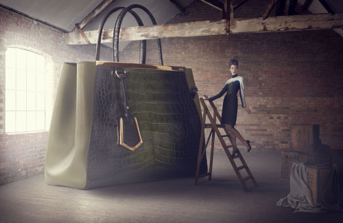"""The Big Bag Theory"" in Harrods Magazine时尚大片"