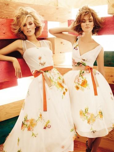 Flawless looking Toni Garrn and Ymre Stiekama时尚写真