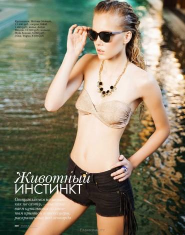 """購物狂 """"Shopping"""" Daria Popova《Elle》俄罗斯版时尚大片"""