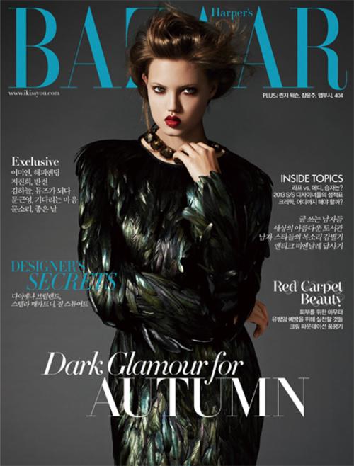 Lindsey Wixson 《Harper's Bazaar》韩国版2012年11月时尚大片