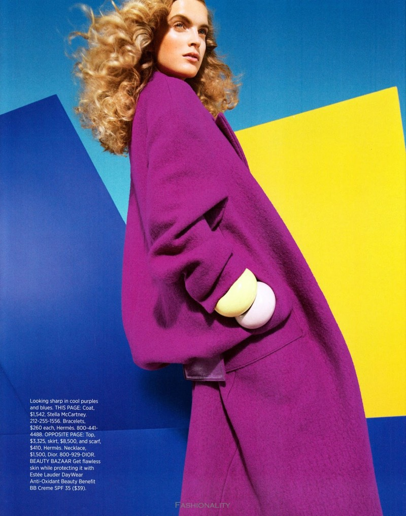 """色彩的創新 """"The New Hues"""" Mirte Maas 《HARPER'S BAZAAR》美国版2013年9月刊时尚大片"""