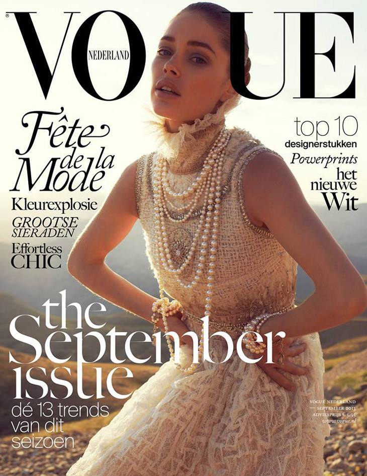 Douzten Kroes 《Vogue》荷兰版2013年9月刊封面大片