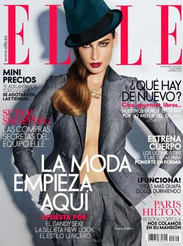 """俯瞰秋天 """"Con Vistas Al Otoño"""" Eugenia Volodina 《Elle》西班牙版2013年9月刊时尚大片"""