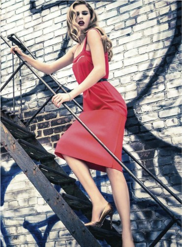 Keke Lindgard by Ellen Von Unwerth for 《Glamour》英国版2013年9月刊时尚大片