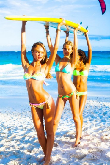 Victoria's Secret Swim 2013 Behind the Scenes in Tulum