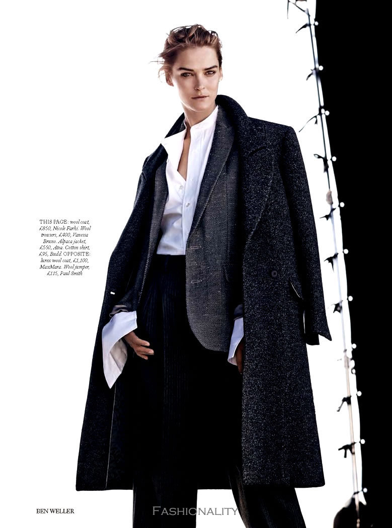 "男裝外套 ""Jacket Required"" Carmen Kass 《Harper's Bazaar》英国版2013年9月刊时尚大片"