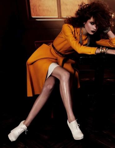 Lindsey Wixson & Caroline Brasch Nielsen by Giampaolo Sgura for 《Vogue》日本版2013年9月刊大片