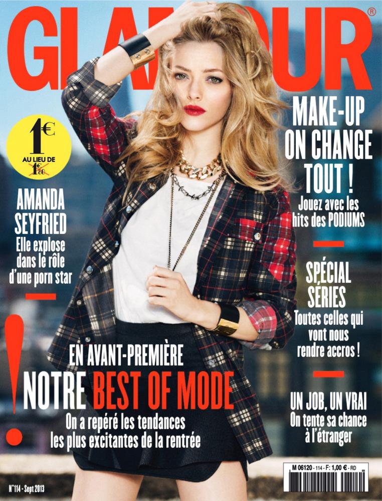 Amanda Seyfried 《Glamour 》法国版2013年9月刊时尚大片