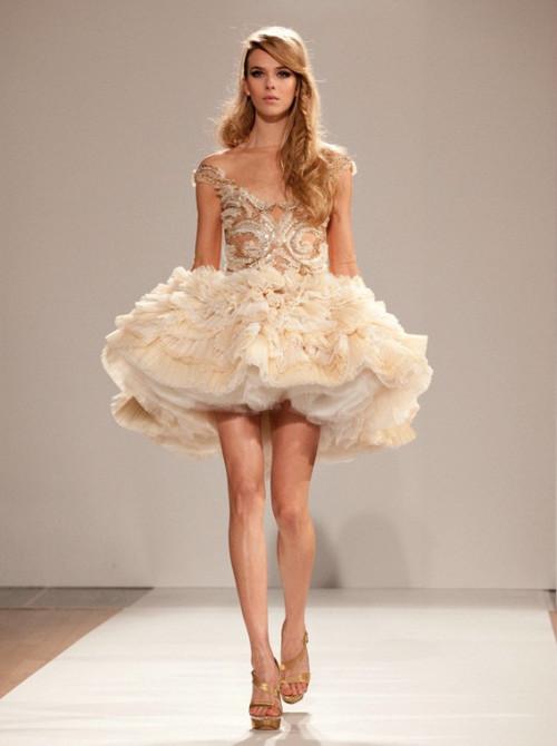 Dilek Hanif Haute Couture春夏婚纱秀,无以言表的美丽~
