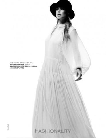 冰原皇后 Doutzen Kroes By Bruno Staub For 《Elle》法国版2013年8月刊时尚大片