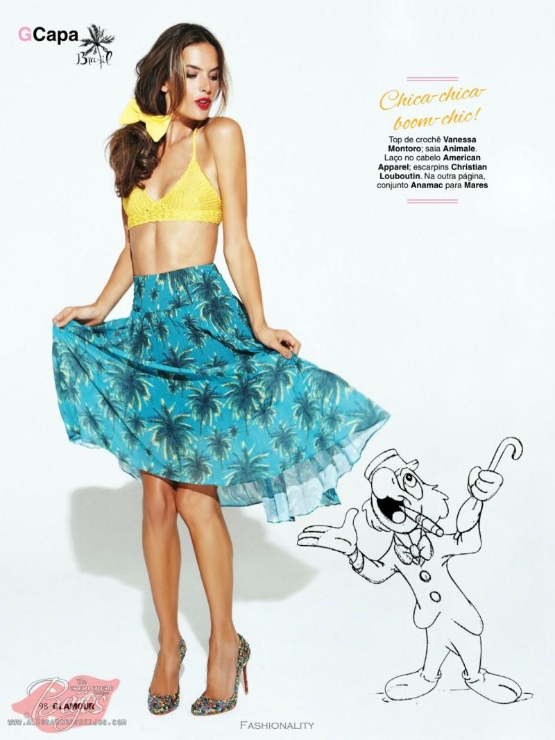 熱帶水果 Alessandra Ambrosio for 《Glamour》巴西版2013年9月刊