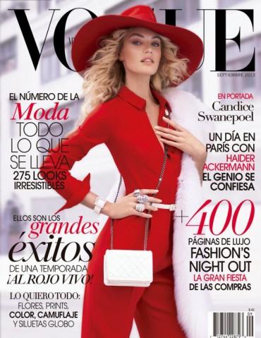 Candice Swanepoel for 《Vogue》墨西哥版 2013年9月刊封面大片