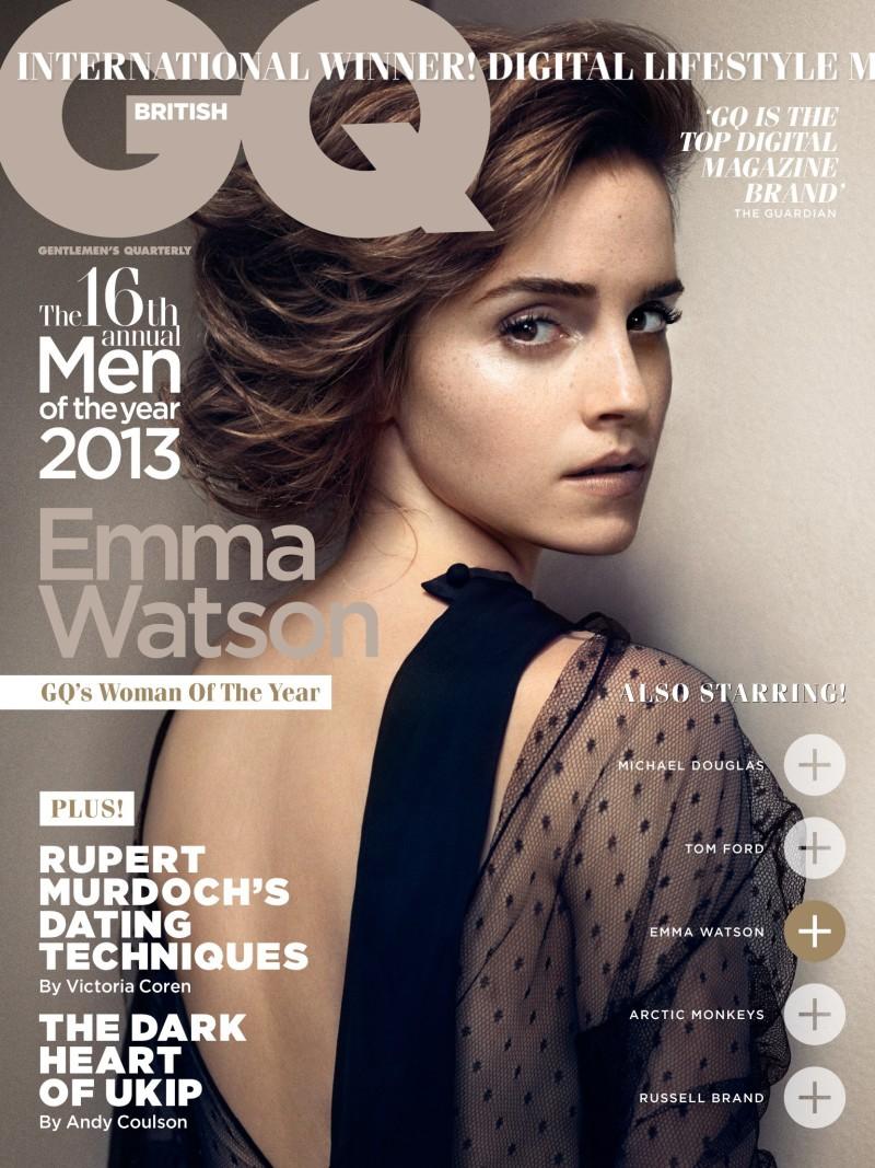Emma Watson on 《GQ》英国版2013年10月刊时尚大片
