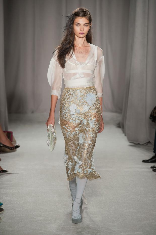 Marchesa 2014春夏女装系列:轻纱曼舞的皇室优雅