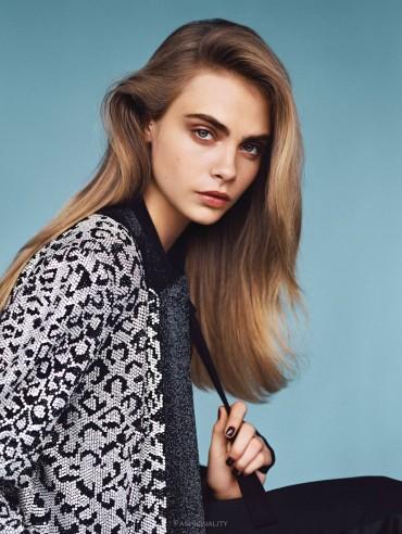 """熟悉的面孔 """"The Face"""" Cara Delevingne 《Vogue》2014年1月刊时尚大片"""