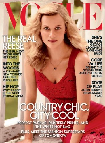 《VOGUE》美国版2014年10月刊封面及大片 — Reese Witherspoon