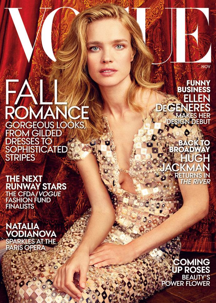 《VOGUE》美国版2014年11月刊封面和大片 – Natalia Vodianova by 摄影师Annie Leibovitz